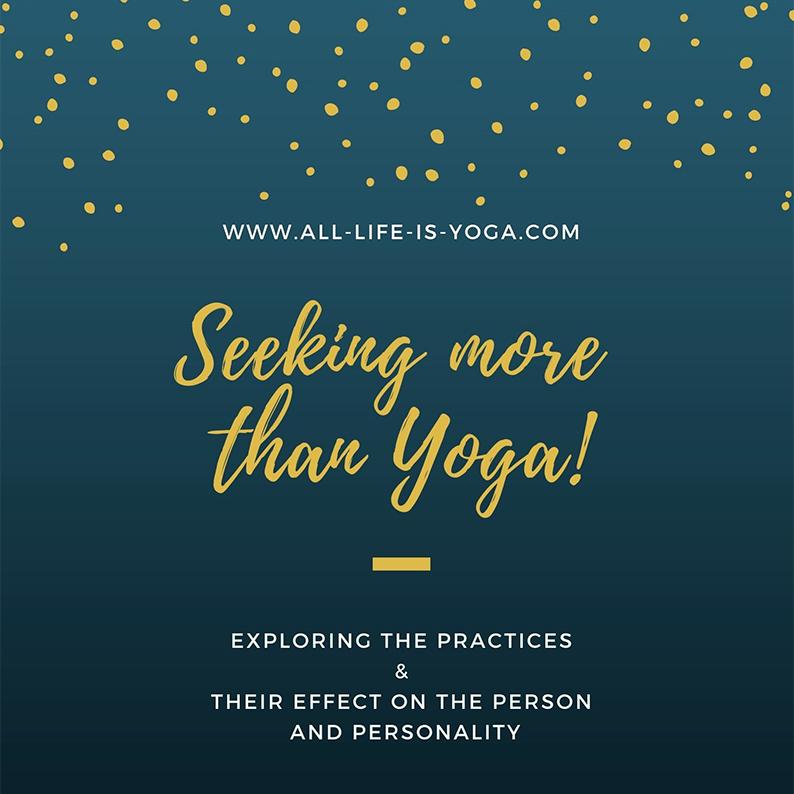 Seeking More Than Yoga