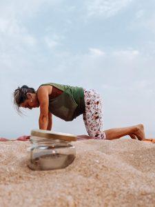 Yoga on beach- Algarve